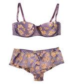 Silk bra and panties — Stock Photo