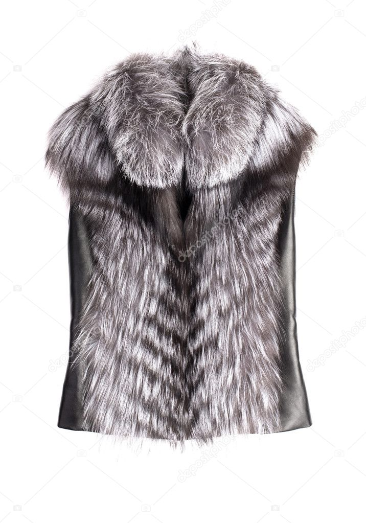 Fur vest isolated on white  — Stock Photo #2219566