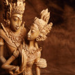 Thai wooden figurine — Foto Stock
