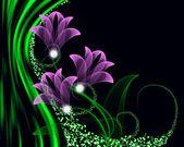 Transparent flowers — Stock Photo
