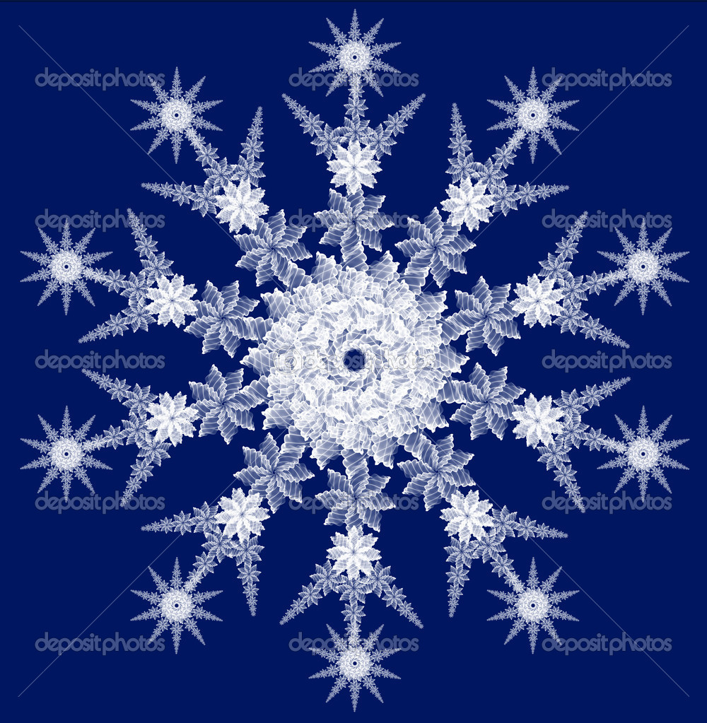 Snowflake for any design projects — 图库照片 #1062217