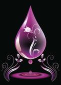 Water-drop for various design artwork — Stock Vector