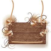 Textura de madera — Vector de stock