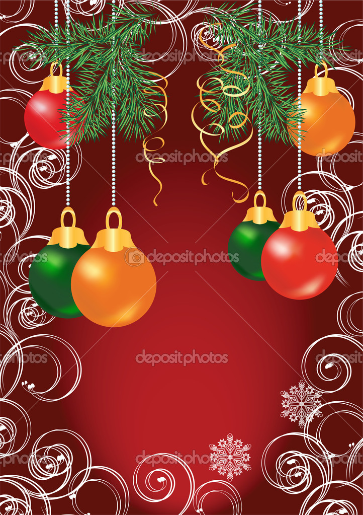 Christmas card  for various design artwork — Stock Vector #1085861