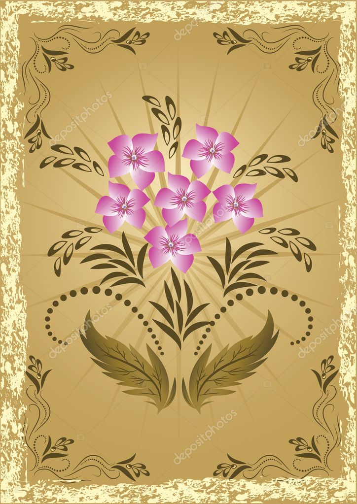 Background with ornament  for various design artwork  Stock Vector #1087473