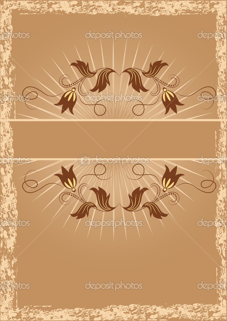 Background with ornament  for various design artwork  Stock Vector #1088452