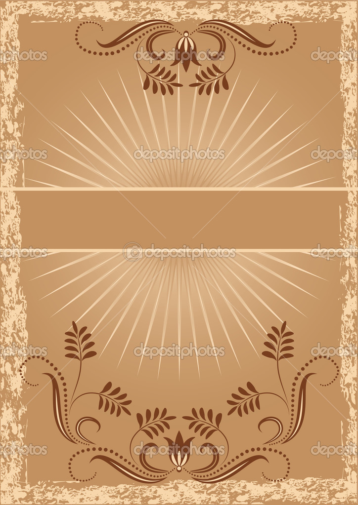 Background with ornament  for various design artwork — Stock Vector #1088456