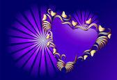 Coração com ornamento — Vetorial Stock