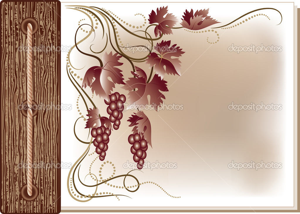 Abstract background with grape  Stock Vector #2442974