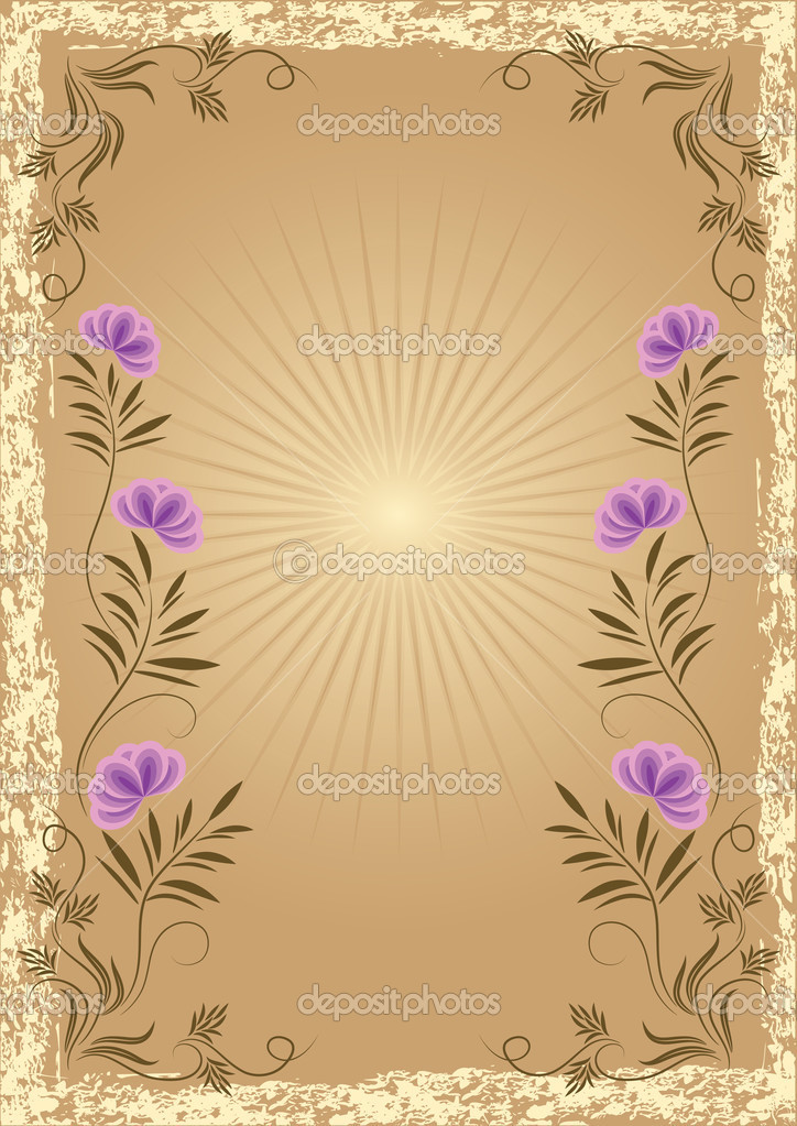 Card in retro style with meadow flower — Stock Vector #2525190