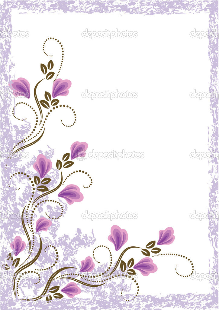 Grunge card with meadow flowers for various design artwork — Stock Vector #2668744