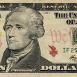 Stock Photo: 10 american dollar