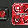Airbag instruction - Stockfoto
