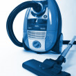 Isolated Stainless Steel Vacuum Cleaner - Stock Photo