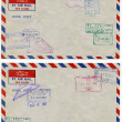 Air mail background - Stock Photo
