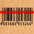 Barcode and laser reader - Stockfoto