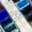 Color paint closeup — Stock Photo