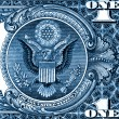 Royalty-Free Stock Photo: Eagle one dollar detail