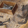 Vintage carpenter tools — Stock Photo