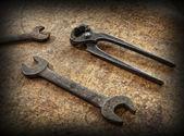 Vintage carpenter tools — Stock Photo