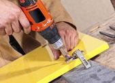 Carpenter in action — Stock Photo