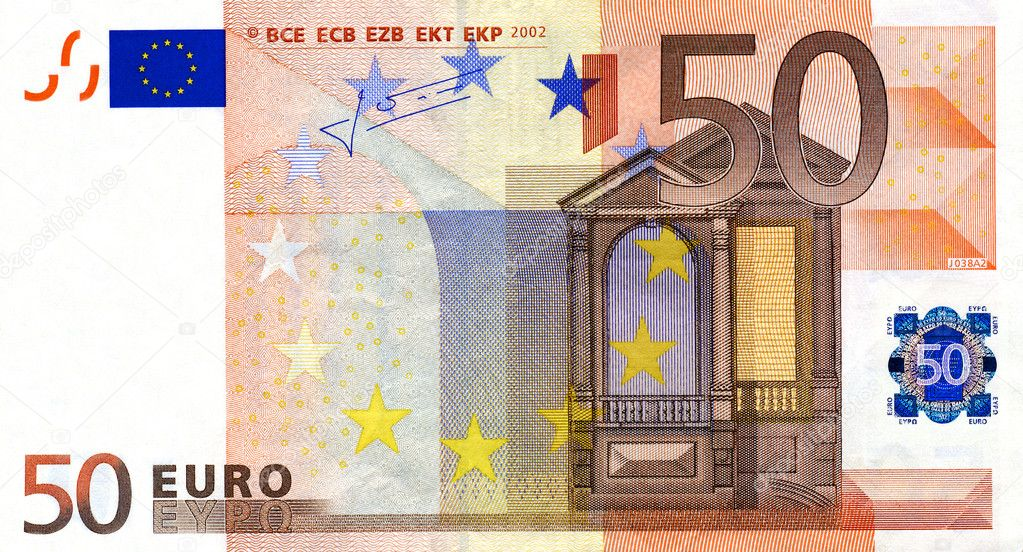 Fine close up image of 50 euro banknote — Stock Photo #1063297