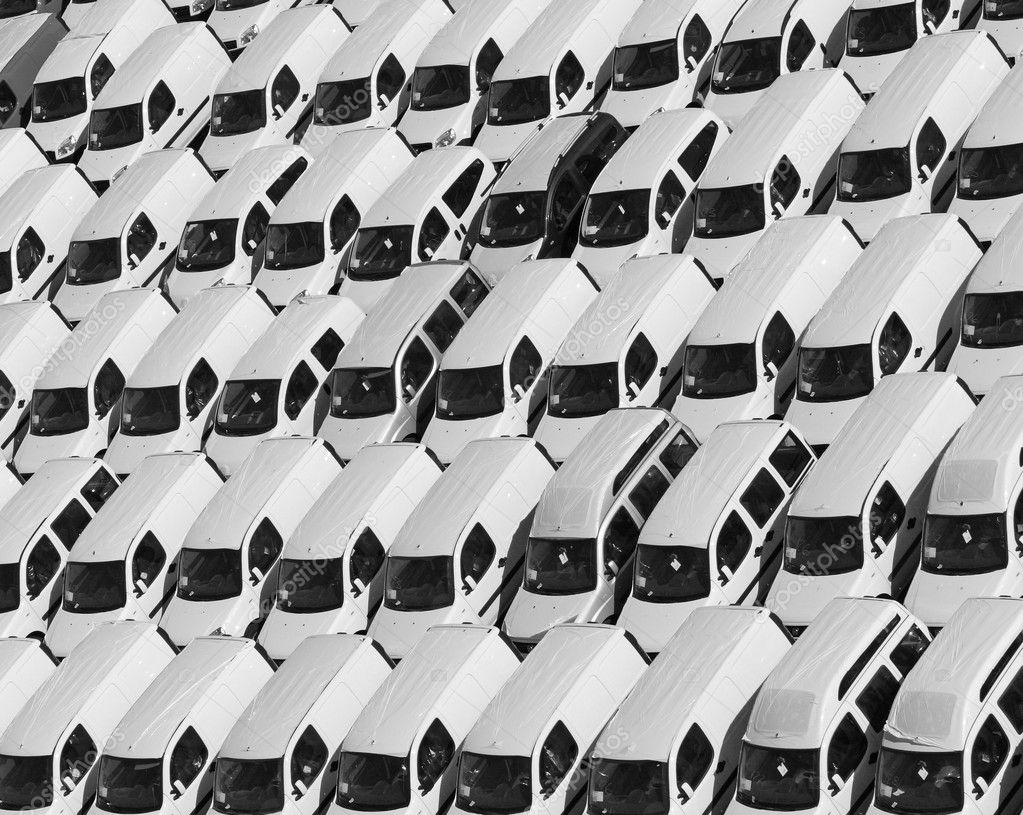 Fine image of lot of car parking pattern background — Stock Photo #1064525