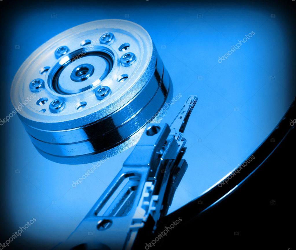 Fine image of close up hard disk background — Stock Photo #1069856