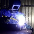 图库照片: Fine image of welder of work 01
