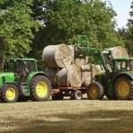 Green tractors — Stock Photo