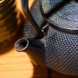 Japanese teapot - Stock Photo