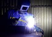 精细图像的焊工的工作 01 — 图库照片