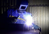 Fine image of welder of work 01 — Foto Stock