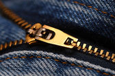 Zip-Jeans-detail — Stockfoto