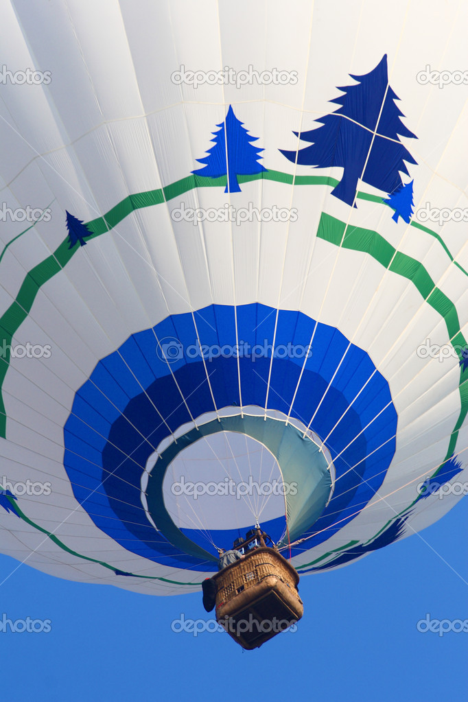 Fine image of hot air balloon background  Stock Photo #1079861