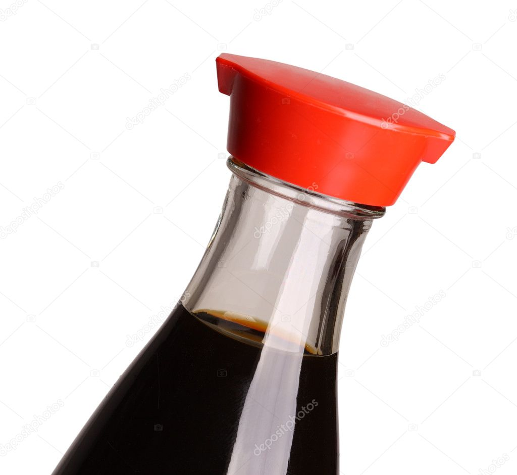 Close up image on classic japanese soy sauce — Stock Photo #1111718