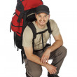Young backpacker — Stock Photo