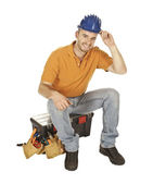 Manual worker on duty — Stock Photo
