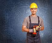 Young confident handyman — Stock Photo
