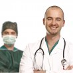 Постер, плакат: Surgery and doctor portrait
