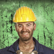 Stock Photo: Heavy industry worker portrait