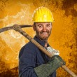 Stock Photo: Miner manual worker
