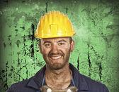Heavy industry worker portrait — Foto de Stock