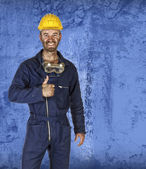 Confident labourer standing — Stock Photo