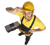 Handyman fun view from above — Stock Photo