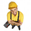 Fun contruction worker portrait — Stock Photo #1408856