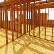 Constructione site wood background - Stock Photo