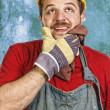 Royalty-Free Stock Photo: Handyman thinking