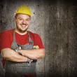 Smiling handyman — Stock Photo