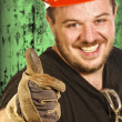 Red hat handyman — Stock Photo